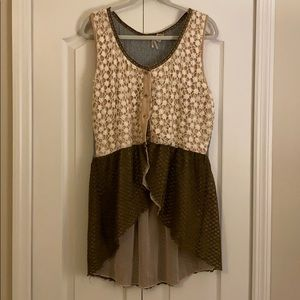 Tank style cardigan great for layering